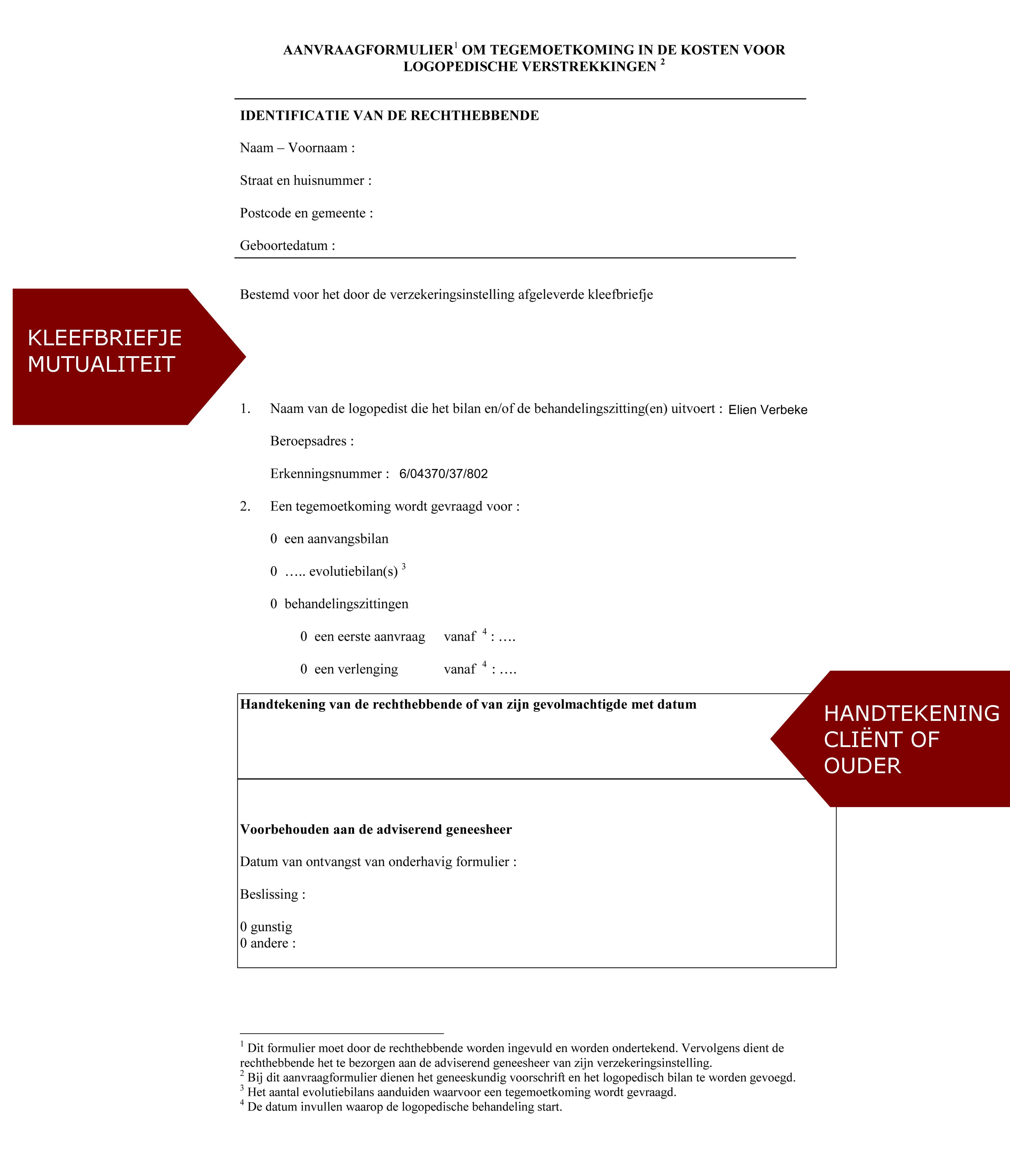 aanvraagformulier cliënt